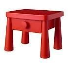 ikea mammut red childrens bedside table