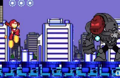 Homem de Ferro em 60 segundos em game 8-bit!