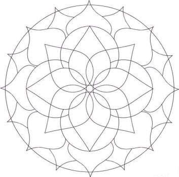 Dibujos y Plantillas para imprimir: Plantilla de dibujos para Mandalas 01