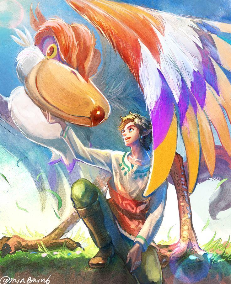 The Legend of Zelda: Skyward Sword, Link and Link's Crimson Loftwing