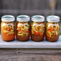 Canning these sweet and spicy pickled banana peppers is the perfect way to put away some of your summer harvest!