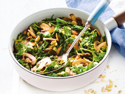 Garlic Mushrooms and Spinach