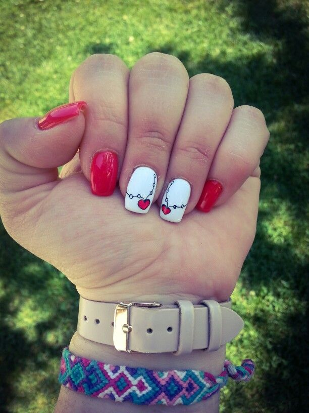 red & hearts