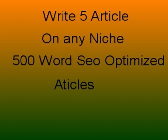 write 5 Unique seo optimized Articles on any Niche