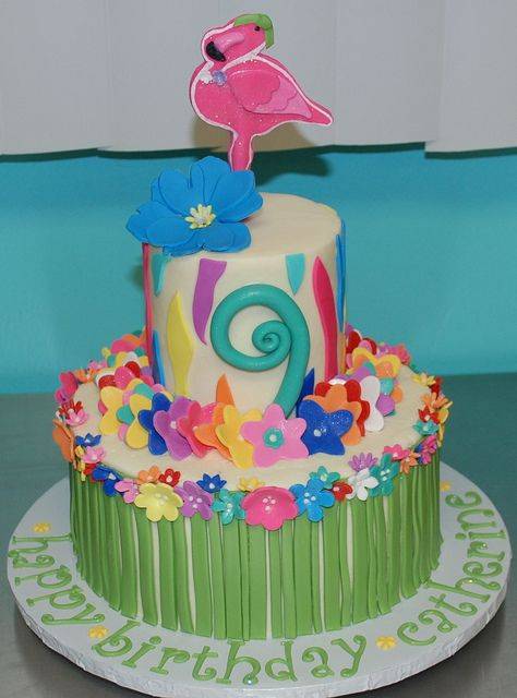 Luau Birthday Cake by cjmjcrlm (Rebecca), via Flickr