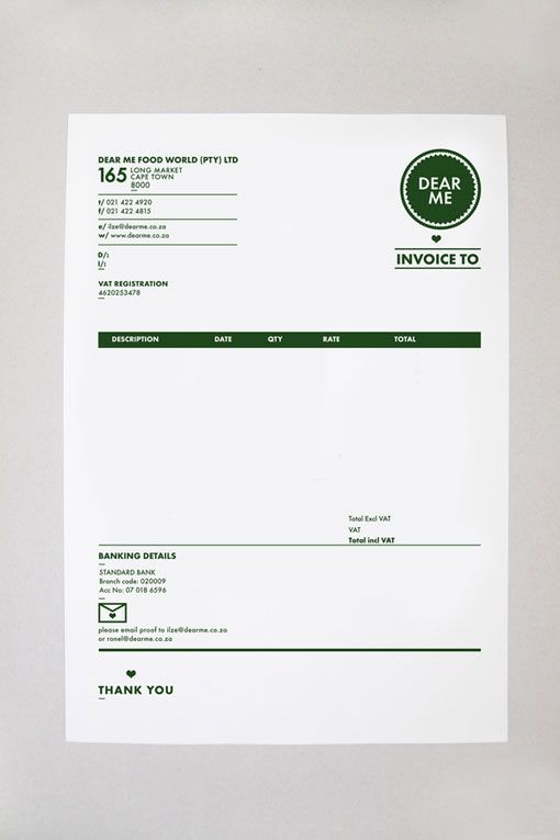 best designed invoice. awesome type formatting