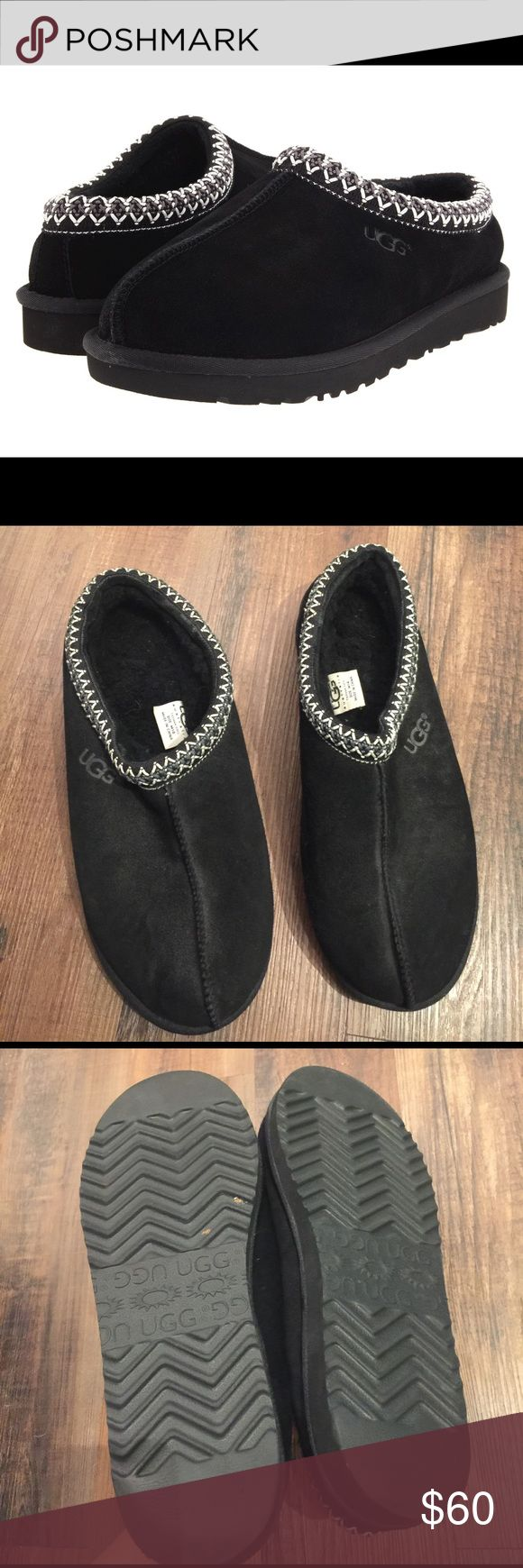Men's UGG Tasman Black Slippers Men's UGG Tasman Black Slippers.  Great condition.  Suede top.  Premium fleece. UGG Shoes