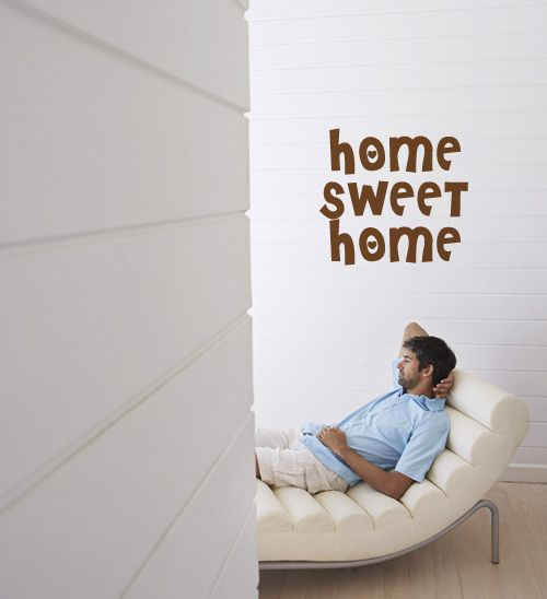 VInil Autocolante/wall Sticker Home sweet home by Verse