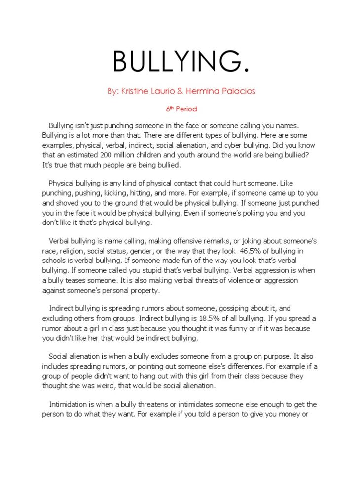 Research Paper About Bullying In 2020 Writing A Term Informative Essay Competition Cyber Cyberbullying Pdf Question Body