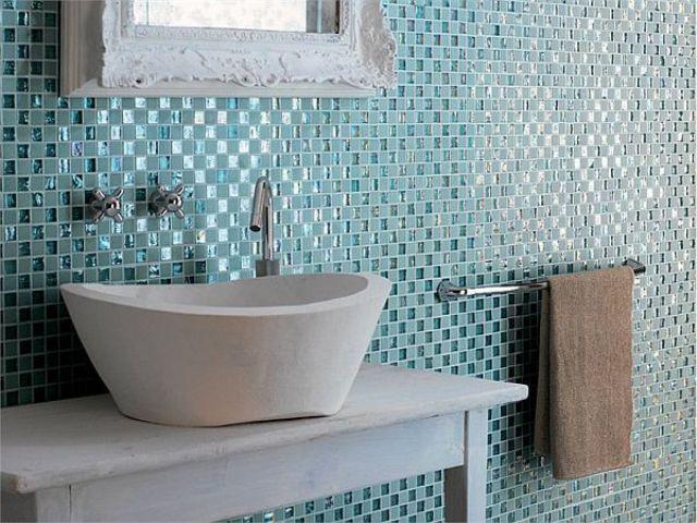 Bathroom Designs with Glass Tiles   Latest House Design