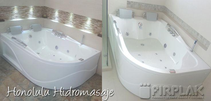 ¿Cómo remodelar tu baño? Acá te mostramos dos propuestas de nuestros clientes con el hidromasaje Honolulu www.firplak.com