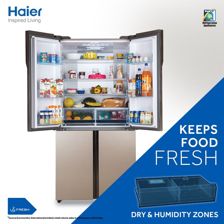 Going on long vacations and don't want any foul smell? Turn on the Holiday Function in your #Haier #Refrigerator that keeps food fresh & your device energy-efficient.   #HaierIndia #Appliances #Lifestyle #Innovation #InspiredLiving