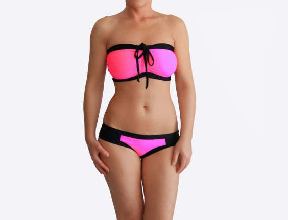 Neon Pink Bikini Best DDD Swimsuit Busty Bathing Suit | Etsy