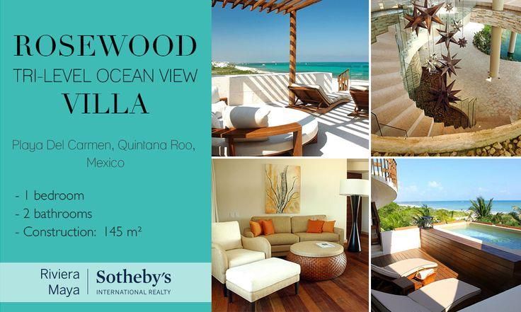 Rosewood Tri-Level Ocean View Villa   Playa Del Carmen, Quintana Roo   Sotheby's International Realty Mexico #realestate #mexico