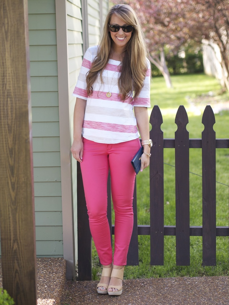 Striped shirt with Old Navy watermelon pants #ninewest #bananarepublic #oldnavy #ray-bans