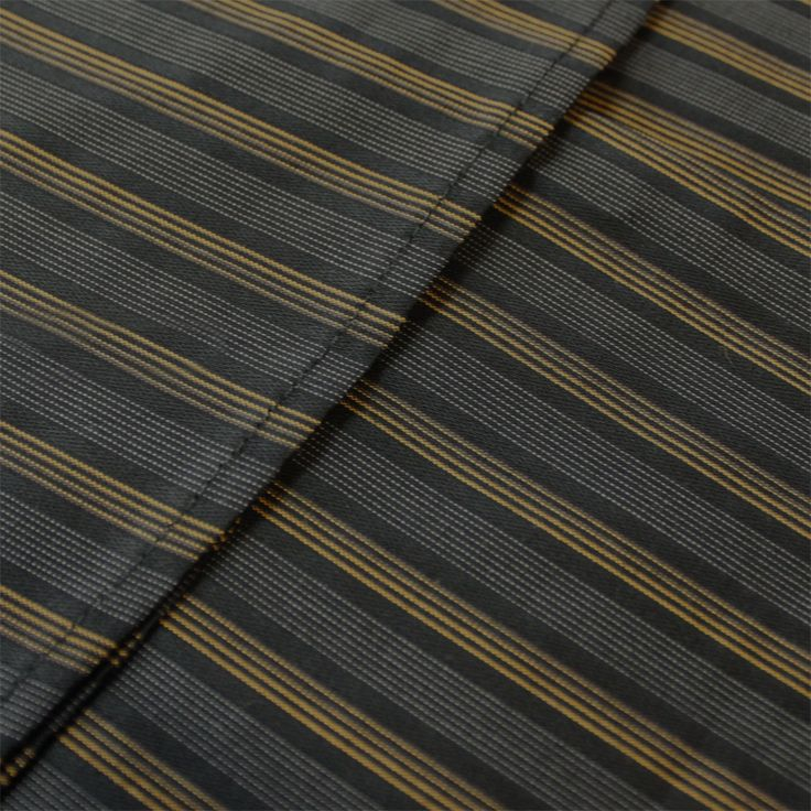 Contare Black and Gold Satin Stripe Weave