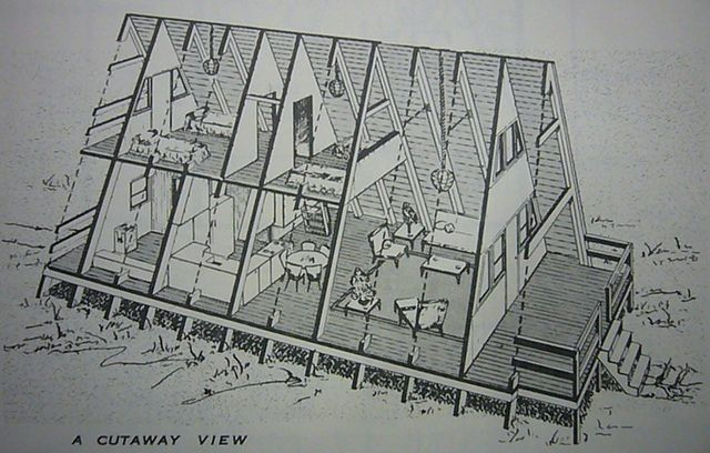 cutaway view of a typical a frame