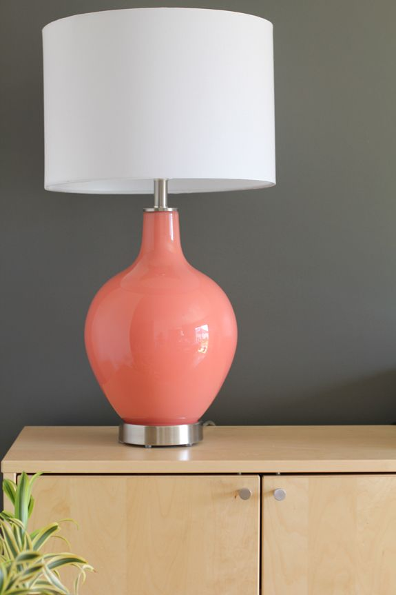 Dark Wall + Bright Lamp (via Boston Mamas - Blog - Tess & Ted = TotallyAwesome)