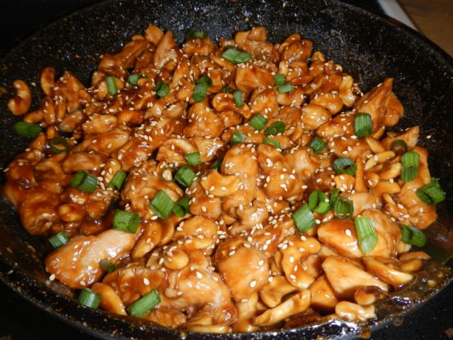 Crock pot spicy cashew chicken, similar to cheesecake factory,