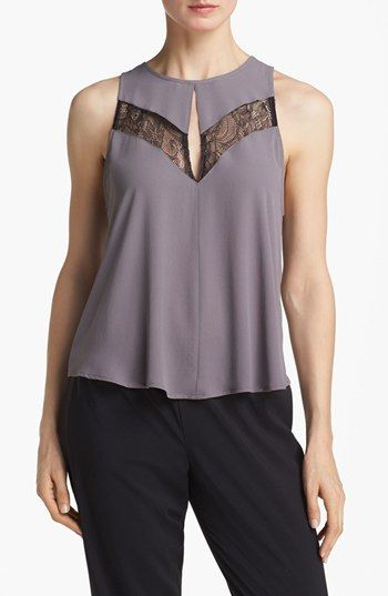 ASTR Lace Inset Tank available at #Nordstrom