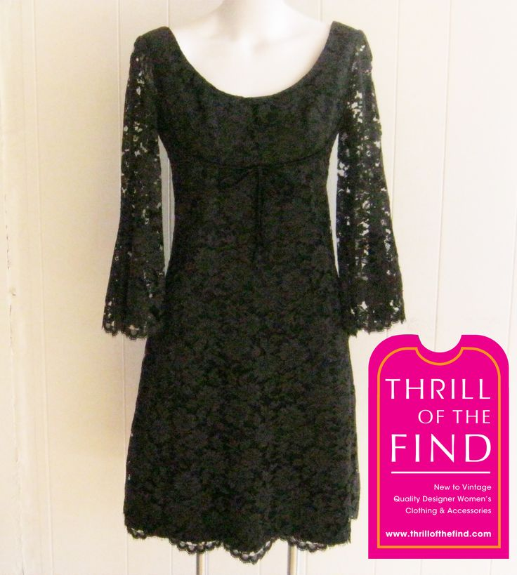 Christian Dior 1980s lace dress  $525 #vintage80slace #vintagechristiandiorlace #vintageblacklacedress