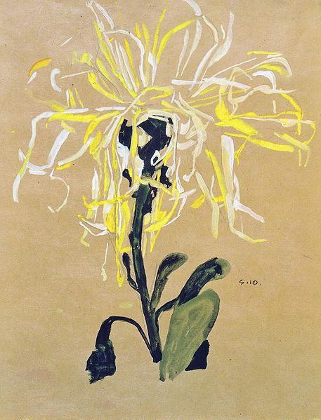 Egon Schiele Chrysanthemum 1910