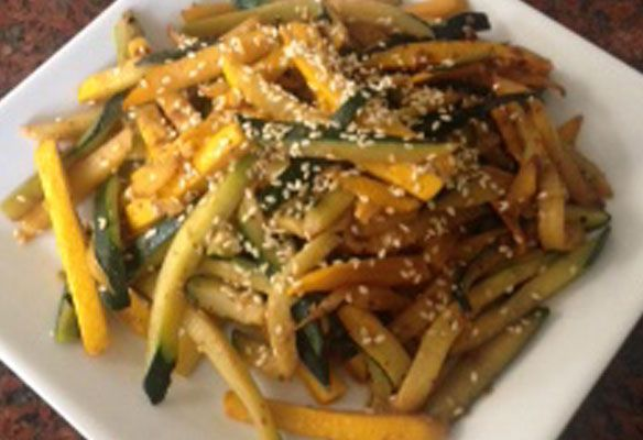 Sauteed Summer Squash Asian-Style | MHealthy Recipe Database
