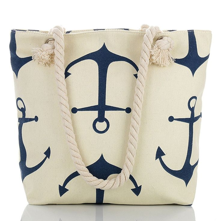 Anchor marine beach bag