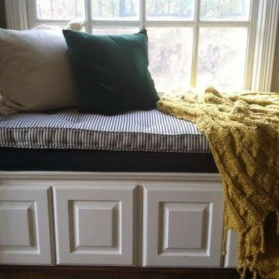 Window Seat Storage Bench Cushion Images Hand Made French Tufted Window Seat Cushion By Hearth