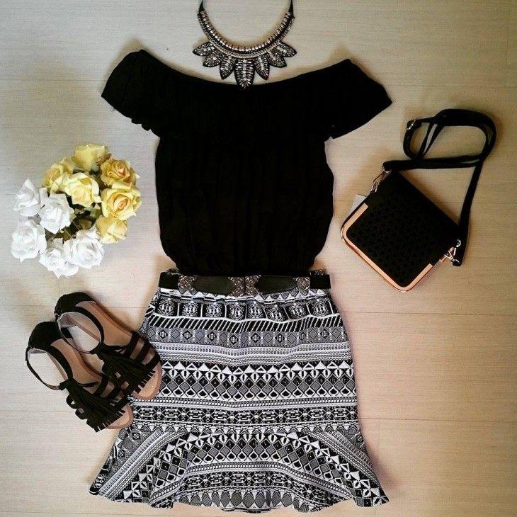 blusa-ciganinha-preta-comprar-saia-sino-babado-preto-branco-estampa-geometrica-etinca-2015
