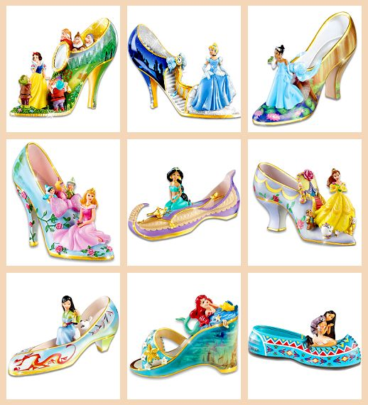 Disney Princess Glass Slippers.... Cute idea for a little girls bday each yr get another glass slipper:)
