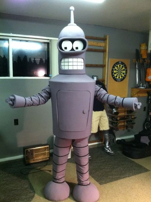 Bender costume. i don't know who this person is, but they win at life. My mind is blown.