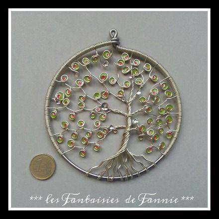 Petit arbre de vie 6 en aluminium suspendre ou - Accrocher photos au mur ...