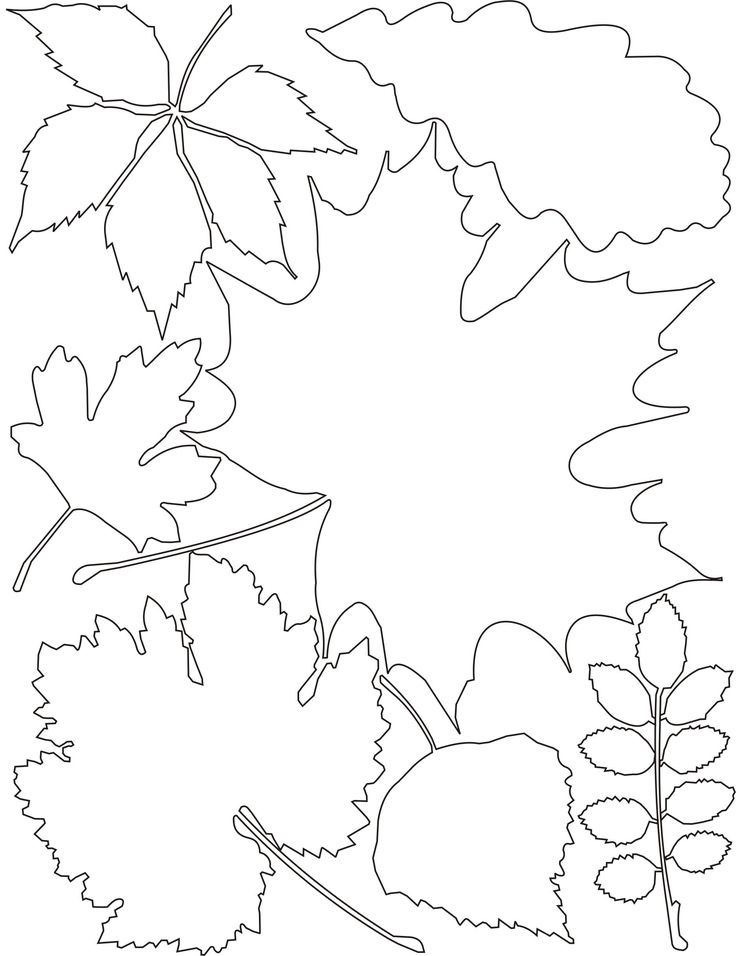 Шаблоны осенний лист, анимация сказочные