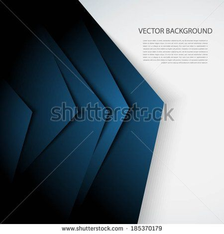 Blue  and white abstract background with realistic shadows.  - stock vector