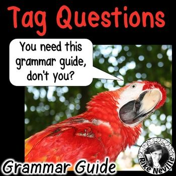 Tag Questions Grammar Guide with worksheets for ESL adults