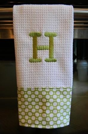 christmas monogram dish towel ideas | monogram dish towel | gift ideas
