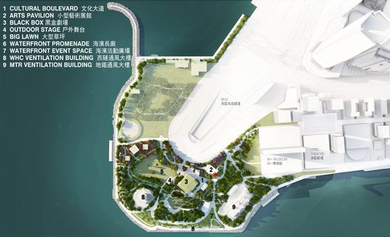 WKCDA unveils concept plan for the future park in West Kowloon Cultural District -CONCEPT-PLAN