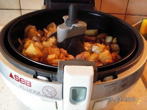 Poêlée de porc et ses pommes de terre à l'Actifry