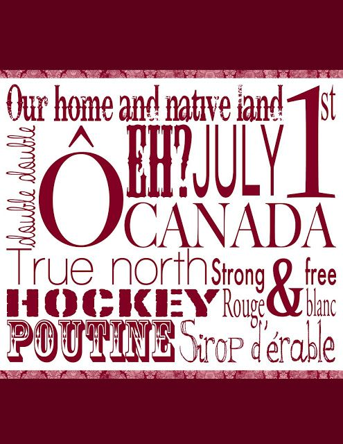 FREE Canada Day printable!