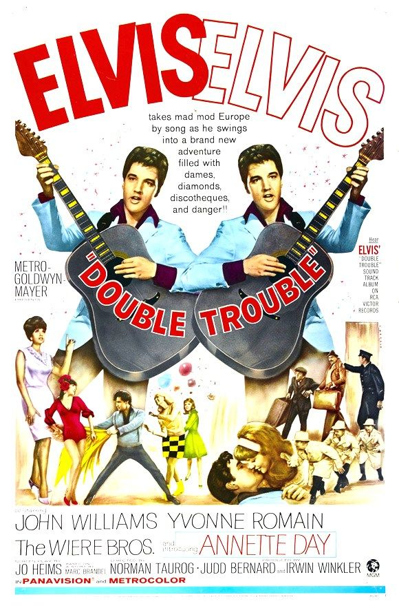 Elvis Movie Poster - Double Trouble - 1967 More