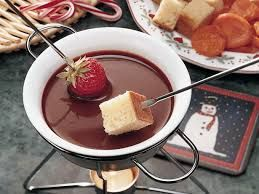 DULCE CHOCOLATE FONDUE  The Melting Pot Copycat Recipe   3 ounces Dark chocolate  1 ounce Dulce de leche, plain  5 shakes sea salt, coa...