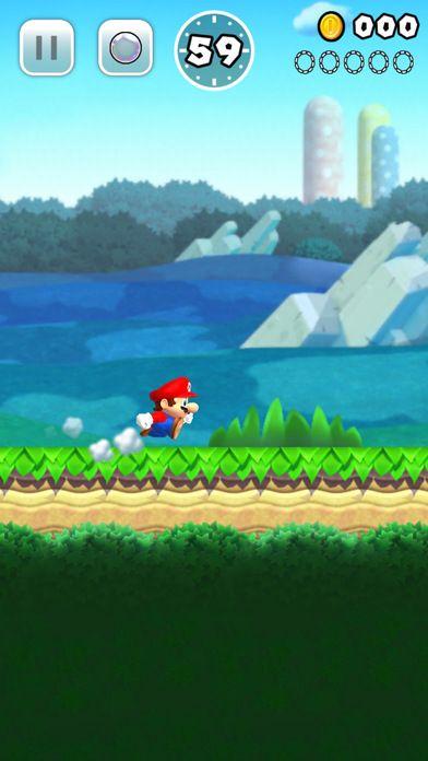 Mario running through one of Super Mario Run's levels.