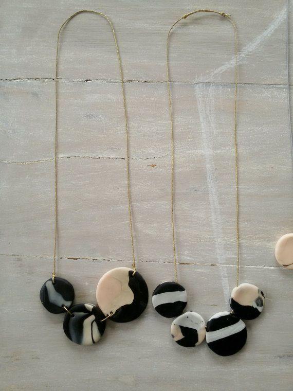 Collar de perlas de arcilla / collar de arcilla por MerakibyStevie
