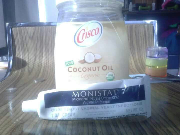 Coconut oil & monistat- gives miraculous hair growth!