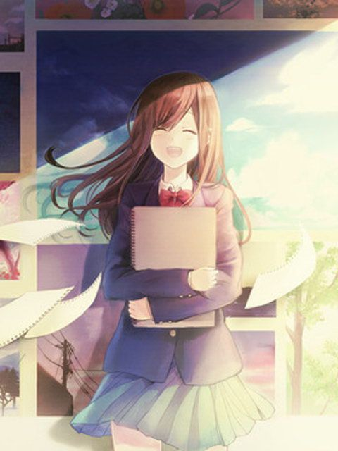 ✮ ANIME ART ✮ anime. . .artist. . .school uniform. . .sketchbook. . .sketchbook pages. . .smile. . .cute. . .kawaii
