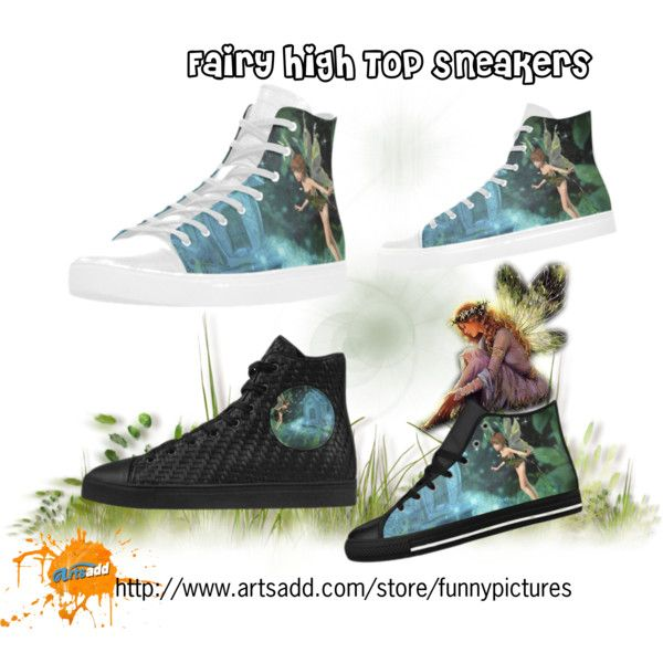 Fairy High Top Sneakers. #shoes buy on #artsadd  worldwide #freeshipping