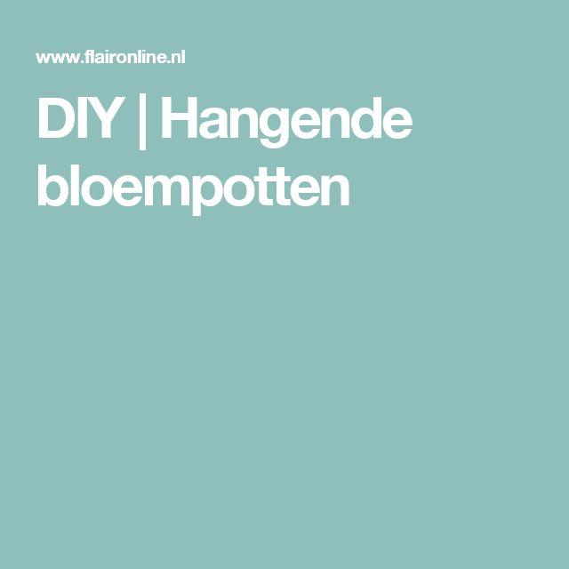 DIY | Hangende bloempotten