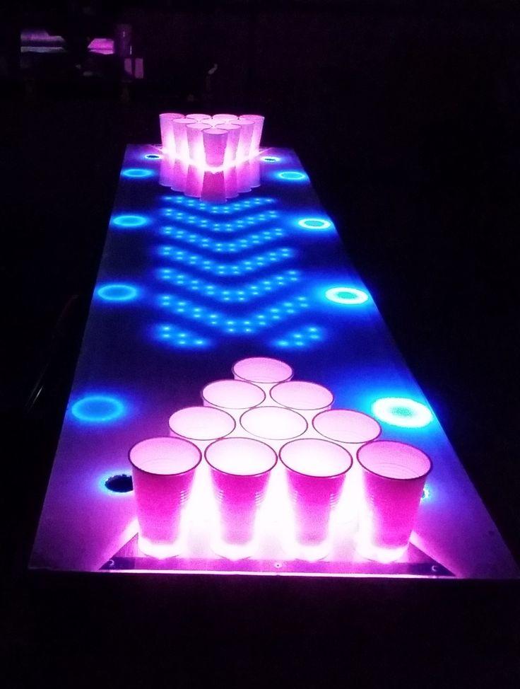 25 best ideas about led beer pong table on pinterest. Black Bedroom Furniture Sets. Home Design Ideas
