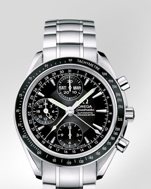 OMEGA Watches: Speedmaster Date / Day-Date Chronograph 40 mm Day-Date - Steel on steel - 3220.50.00